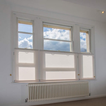 Bottom Up Blinds for a room with a view!