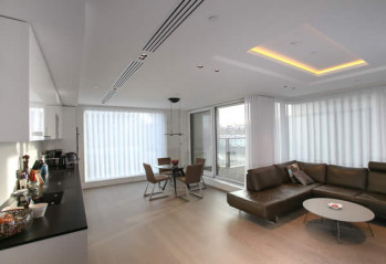 Curtains and Blinds W14 for a contemporary London Apartment