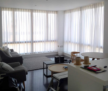 Modern London Living – Contemporary Curtains for Large Windows