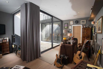 Curtains for Stylish Apartment in Wimbledon complete with Man Cave