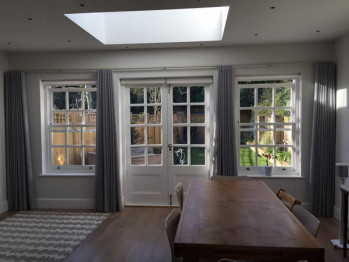 Roller blinds & Voile Curtains for French Doors in London SW13