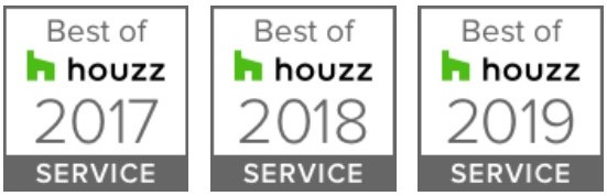 Best of Houzz Service badges from 2017 to 2019