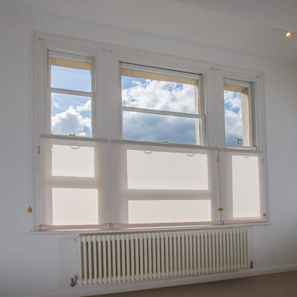 Sky views with bottom up blinds London