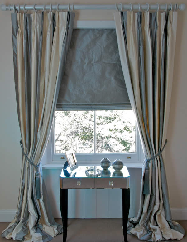 Curtains and blinds Sale - Silk Stripe Dupion - massive reductions
