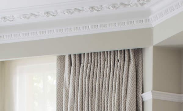 Detail - Delicately Patterned Domino from our range of Toiles de Mayenne fabrics